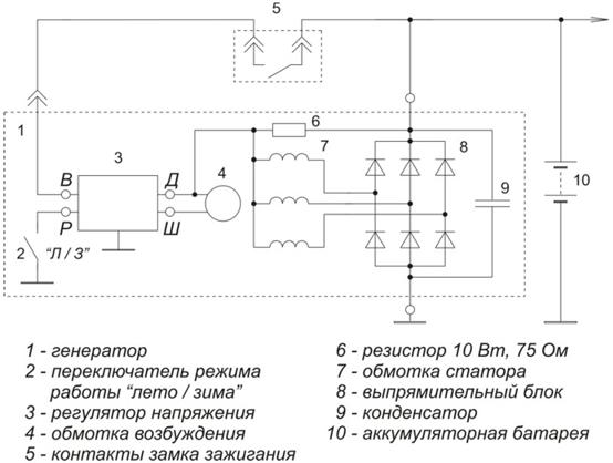 Ваз 21074 схема карбюратора Схема проверки регулятора напряжения генератора проверка реле схема напряжения схема...
