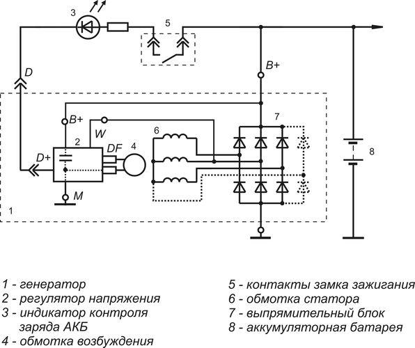 Схема включения регулятора