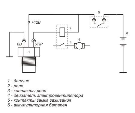 Схема включения датчика ТМ108М