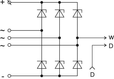 The scheme of restrictive rectifier unit BVO11-150-20 version 86