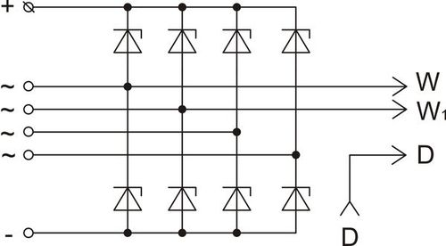 The scheme of restrictive rectifier unit BVO11-150-22 version 88