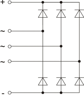 The scheme of rectifier unit BV21-150-14 A