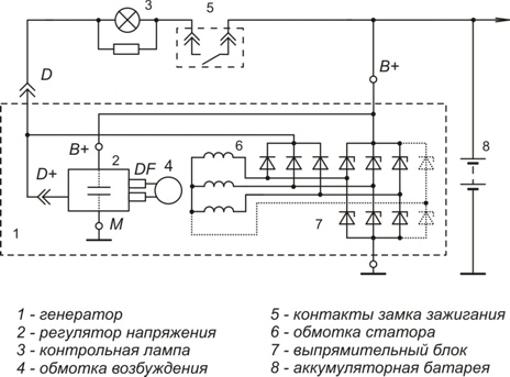 Схема включения регулятора напряжения 9333.3702-20_22